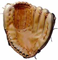 Baseball glove repair and Glove Stuff® baseball glove cleaner and conditioner - photo of baseball glove