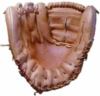 Baseball glove repair and Glove Stuff® baseball glove cleaner and conditioner - photo of a baseball glove